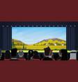 people sitting in cinema watching movie back rear vector image