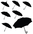 umbrella black silhouette vector image