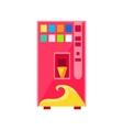 Sweet Drinks Vending Machine Design vector image