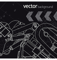 Technology background version 3 vector image vector image
