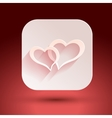 Hearts for Valentine s day on a pink background vector image vector image