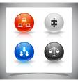 abstract glass balls vector image vector image