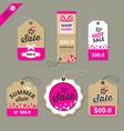 label paper brown and pink concept vector image vector image