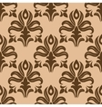 Modern foliate brown and beige arabesque pattern vector image vector image