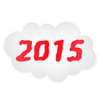 new year cloud vector image vector image