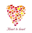 heart made of little watercolor hearts vector image
