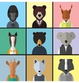 Animal Avatar Icon Set vector image vector image