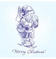 Santa Claus hand drawn llustration vector image