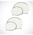 checkered speech bubbles vector image