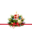 Christmas still life with candle EPS 10 vector image