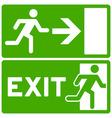 Green Exit Symbol vector image