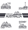 Sydney city set vector image