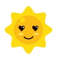 kawaii sun icon vector image