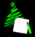 Abstract christmas tree the simple draw vector image vector image