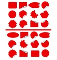 Sticker label set Red sticky isolated on white vector image