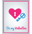 stValentine icons card 3 vector image vector image