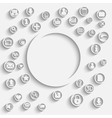 round template eps10 background vector image