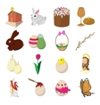 Easter cartoon icons vector image vector image