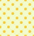 Seamless Simple Pattern with Golden Coins for St vector image vector image