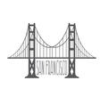 golden gate bridge in san francisco design vector image