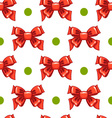 Seamless pattern cute cartoon bows-3 vector image