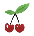 Cherry couple illstration vector image
