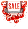 Sale Banner with Balloons vector image