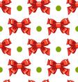 Seamless pattern cute cartoon bows-3 vector image