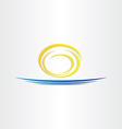 sun and sea tourism icon vector image