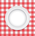 tablecloth and empty plate vector image