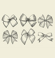 vintage ribbon bows vector image