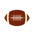 american football ball sport game icon vector image