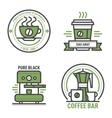 Coffee monogram logo badge vector image