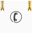Telephone receiver icon vector image