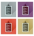 Concept flat icons with long shadow Business vector image