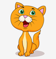 Cute cat cartoon sitting vector image vector image
