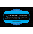 Blue creative business card vector image vector image