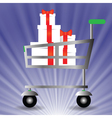 basket for shopping vector image