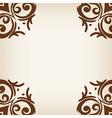 brown frameborder in damask baroque style vector image vector image