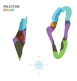 Abstract color map of Palestine vector image