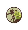 Cameraman Director Vintage Camera Retro vector image vector image