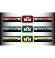 scoreboard elements collection vector image