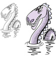 Loch Ness monster vector image
