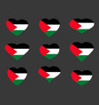hearts with the flag of palestine i love vector image