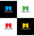 letter m and one logo icon vector image