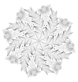 Monochrome floral coloring page template vector image