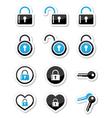 Padlock key account icons set vector image