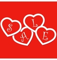 Sale hearts tags stickers vector image