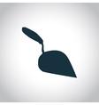 Trowel black icon vector image