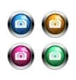 White camera icon buttons vector image